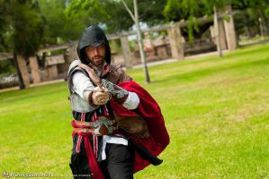 Ezio with sword by Kolin-Roberts