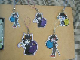 homestuck keychains by locorooke
