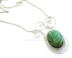 Turquoise Necklace by OlgaC