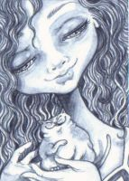 ACEO - Teeny Tiny Tubby by KootiesMom