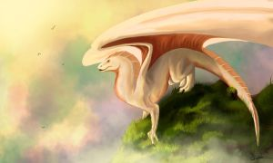 White dragon by 44Shadow44