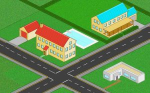 Pixel suburbia by XtremePenguin