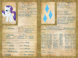 Rarity Character Sheet by GeneralDurandal