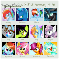 2013 Art Summary by ShyShyOctavia