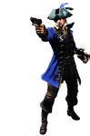 Leon Blue Pirate Render by RPGxplay