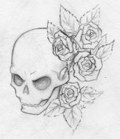 Skull and Roses by mrinx