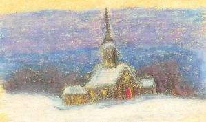 Church in the Snow by LadyoftheApocalypse