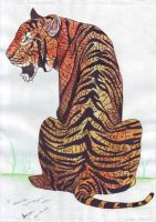 Mashrifa's Name Tiger by FATRATKING