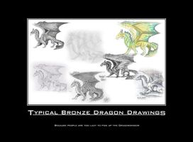 Typical Bronze Dragon Drawings by ChapterAquila92