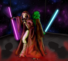 Sillis and Faas: Master and Padawan by nidopug