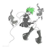 The Crazy Cat Gamer by 5ande