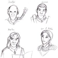 Oblivion Characters Sketch by carrinth