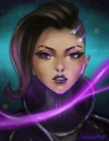 Commission: Sombra, Overwatch by LenamoArt