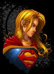 supergirl colored by triger by JamieFayX