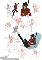 Rufus the Android Pilot Sketch Page by Digimitsu