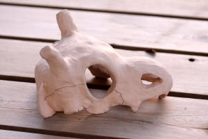 Cubone ceramic Side LEFT by Sanngot
