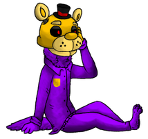 Purple Man Pose (FNAF) by XCorruptedInsanityX