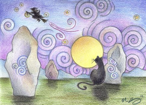 When Witches Fly by Spiralpathdesigns