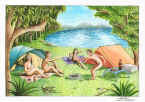 Nudist Camping during the day by luannavidolim