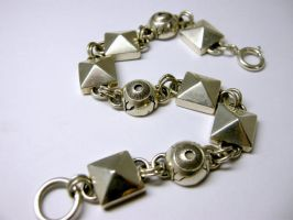 Studs and Eyes Bracelet by EYERUS