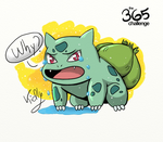 Sad bulbasaur by Y-a-m-i-k-o