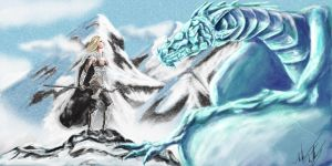 The Ice Dragon by Blackidus