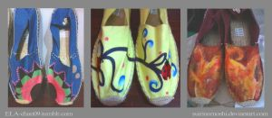 Customized/Hand-painted Espadrilles4 by suirinomoshi