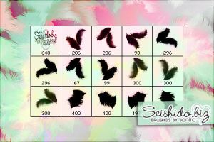 FREE Fluffy Feather Brushes by seishido