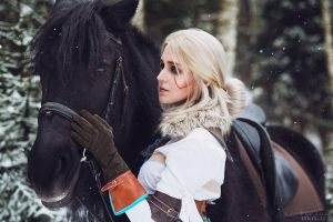 The Witcher 3 - Ciri and Kelpie by ver1sa