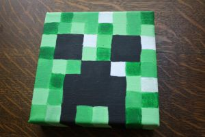 Minecraft Creeper painting by Lixaa