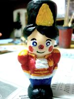 Nutcracker doll porcelain miniature by 5akuraD1va