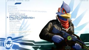 Falco Lombardi Wallpaper by JECBrush