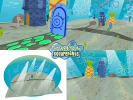 MMD Spongebob Bikini Bottom DL by SachiShirakawa