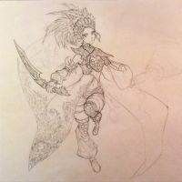 Feather Dancer WIP2 by Aiseph