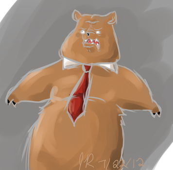 A bear by TrainerEXPLOSION