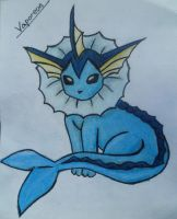 Vaporeon with color by LisaEide