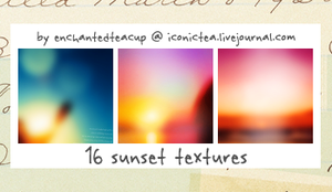 Sunset Textures by enchantedteacup
