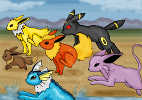 eevee race by timmy-gost