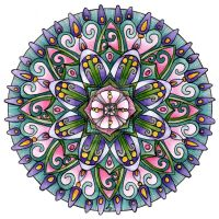 13th January Mandala by Artwyrd