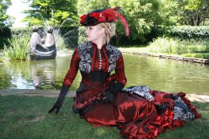 French Swan Tail Bustle Skirt Sitting by AzreGreis