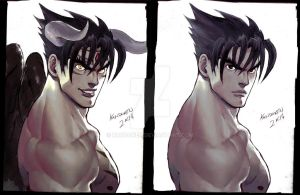Devil Jin x Jin bust commission by Kandoken