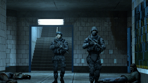 Two soldiers investigating by gtanoofa