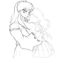 Inuyasha and Kagome by Gearfreed