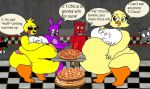 Chica Vs T.Chica food eating contest by Bun-BunMX