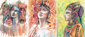 Watercolor doodles by Nincebo