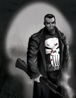 The Punisher digital paint by elguapo6