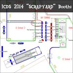 The ScrapYard Booth Of ICDS 2014 by NeoVersion7