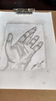 Drawing Hand Exercise. by ZachFX