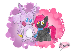 Nika and Blackie - Request by TurboBrycerox