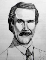 Ron Burgundy (Anchorman) drawing by BSmalley